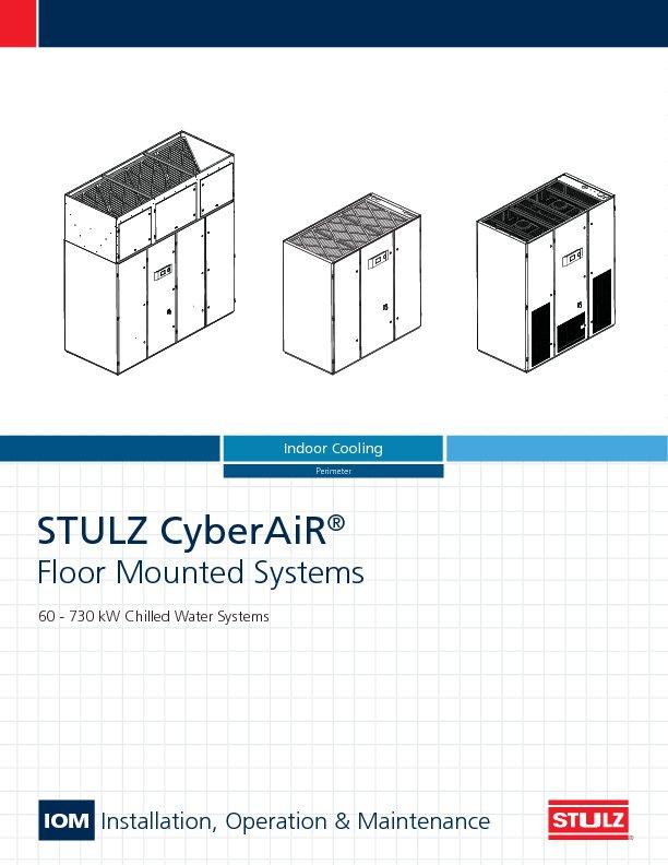 cyberair crac crah data center cooling stulz usa stulz cyberair cw iom ocs0138b