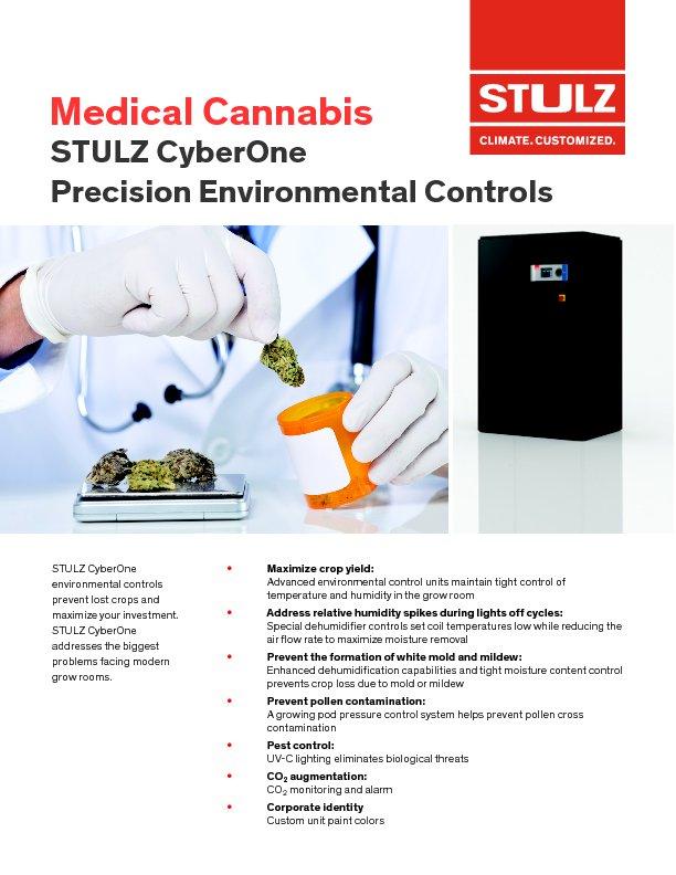 Cyberone medical marijuana room cooling stulz usa for Grow room software