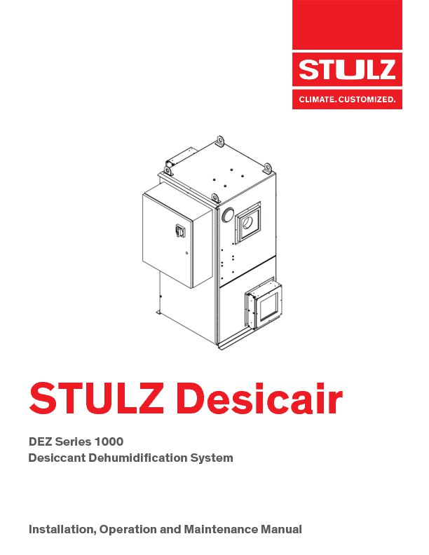 Desiccant Dehumidification Stulz Usa