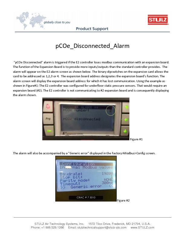 faq stulz usa stulz pcoe disconnected alarm