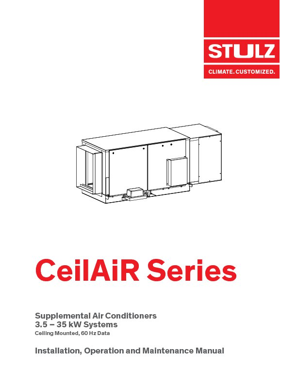 Ceilair Ceiling Mounted Data Center Cooling Stulz Usa